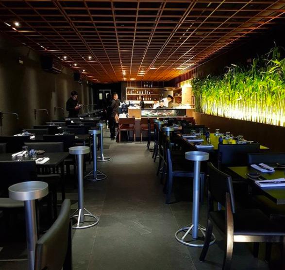 Interior do restaurante japonês Kozu, em Goiânia | Foto:Divulgação
