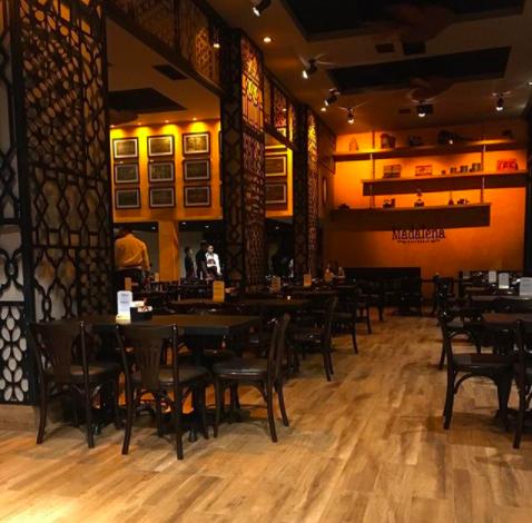 Interior do novo restaurante Madalena Gastropub em Goiânia: projeto de William Hanna | Foto: William Hanna Arquitetura