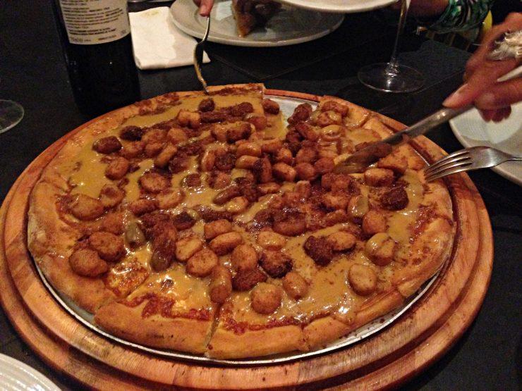 Sobremesa: pizza de churros é uma da opções | Foto: Luísa Gomes/Mais Cinco