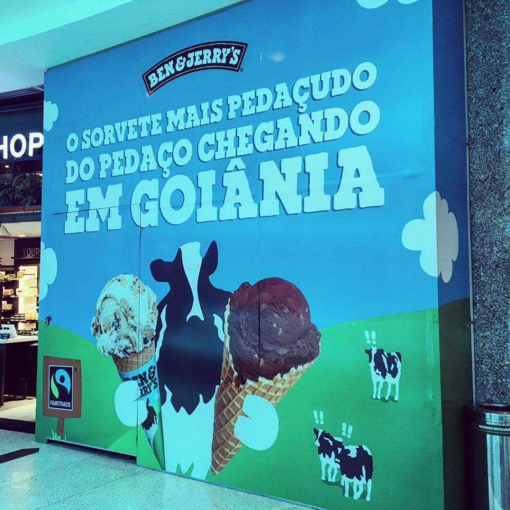 Primeira Ben & Jerry's em Goiânia será aberta no Shopping Flamboyant | Foto: Divulgação/Flamboyant Shopping