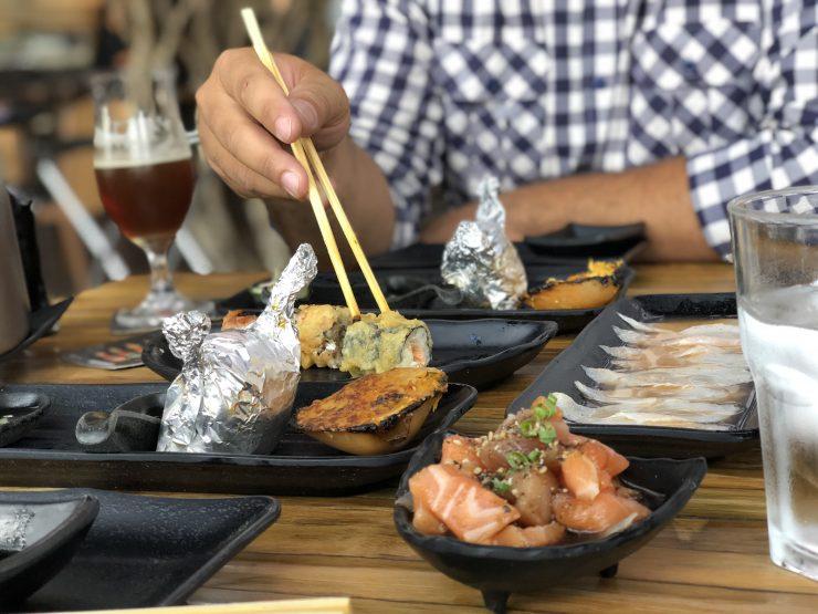 Entradas do festival de comida japonesa do Kanpai Blue | Foto: Luísa Gomes/Mais Cinco