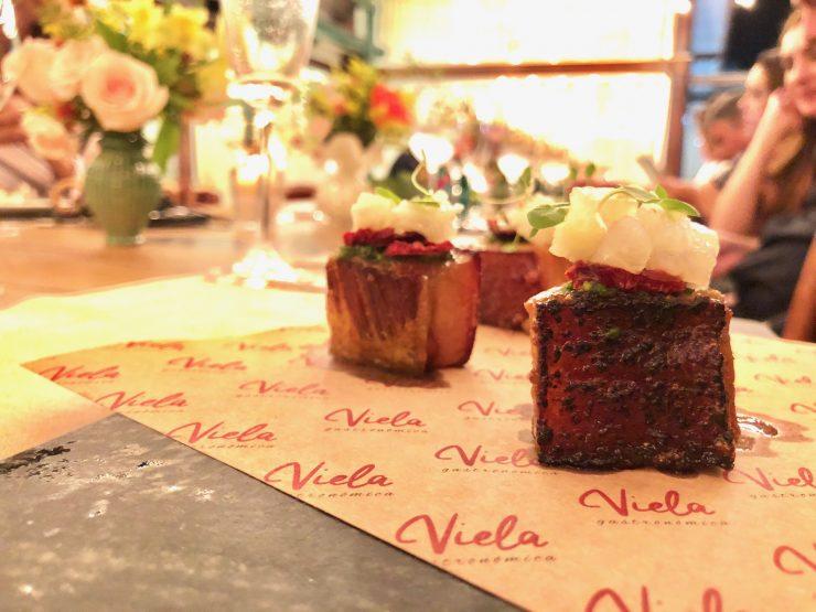 Panceta di Miale: uma das opções de entrada do Viela Gastronômica | Foto: Luísa Gomes/Mais Cinco