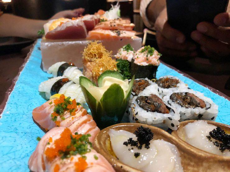 Menu degustação do Taji Japanese, novo restaurante japonês em Goiânia | Foto: Luísa Gomes