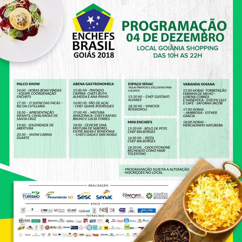 Programação do Enchefs Brasil em Goiânia