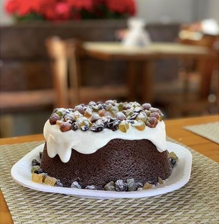 Bolo Natalino da padaria Grão Bento em Goiânia | Foto: Divulgação