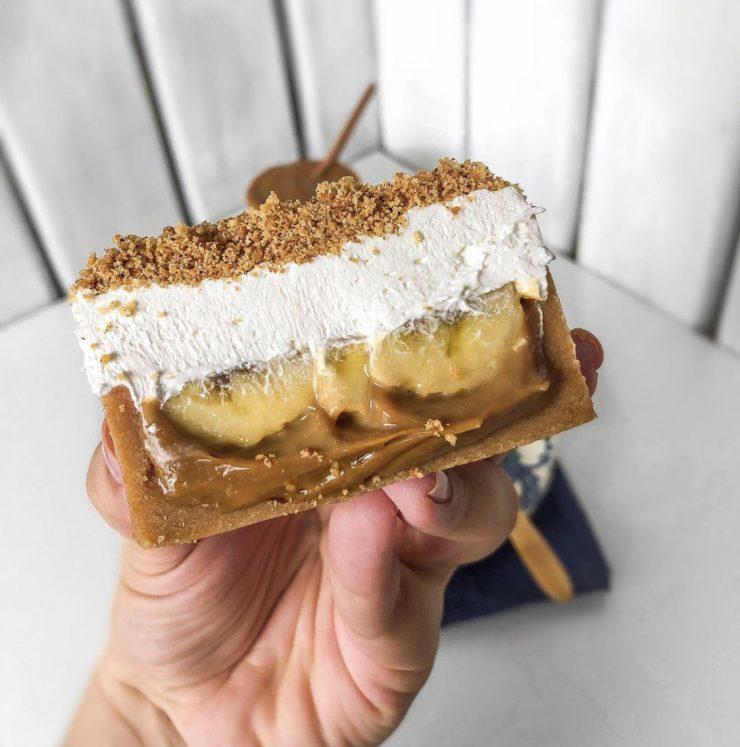 Torta estilo banoffee da Mica The Pie   Foto: Divulgação