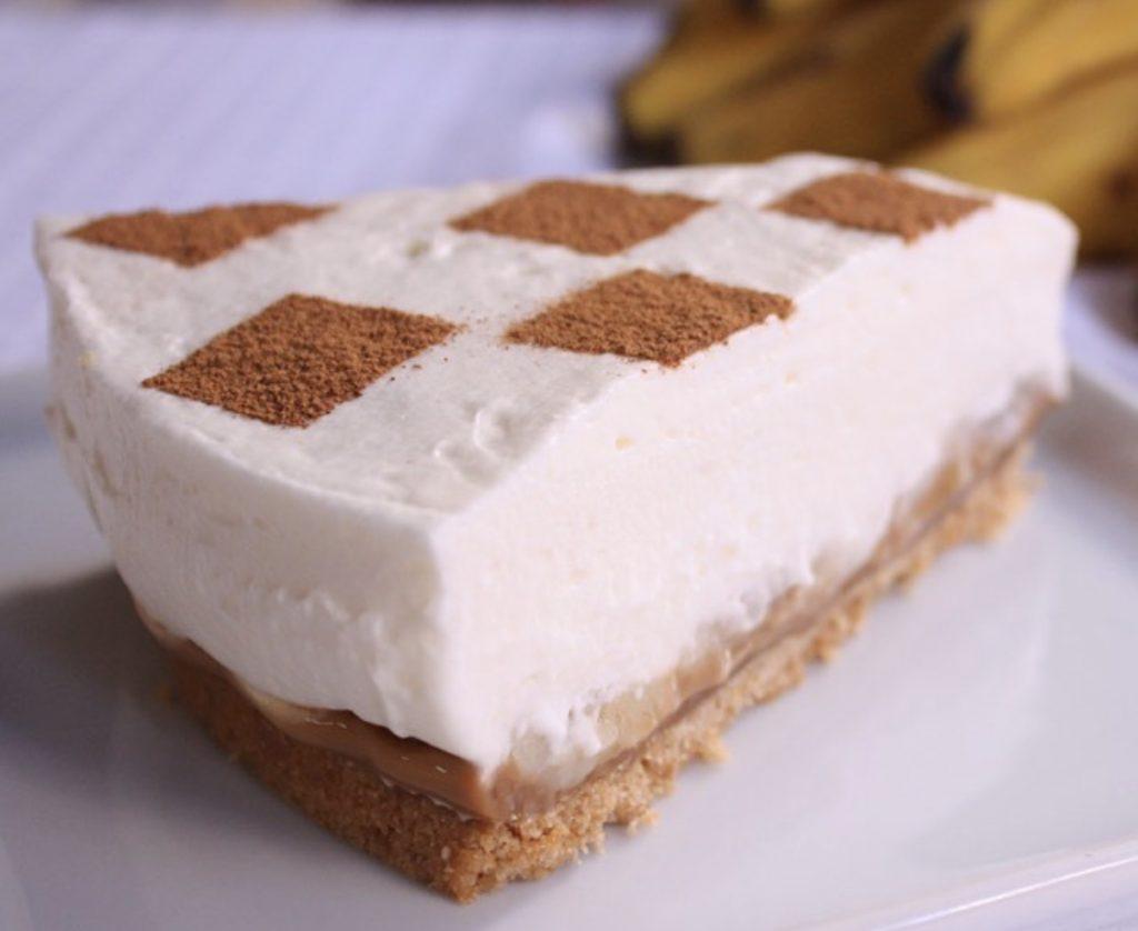 A Quicheria também disponibiliza torta estilo banoffee para clientes   Foto: Divulgação