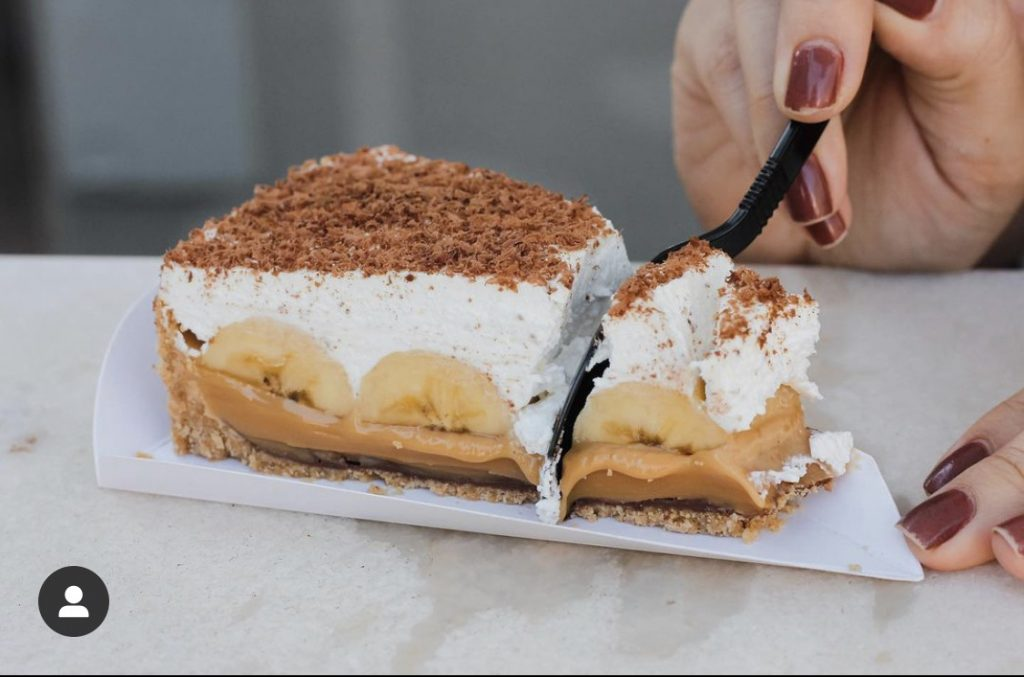 Três Rimas é especializada em tortas do tipo banoffee | Foto: Luanna Fotografia/Divulgação
