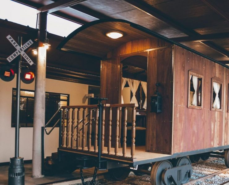 Café funciona dentro de vagão de trem em Goiânia | Foto: Divulgação