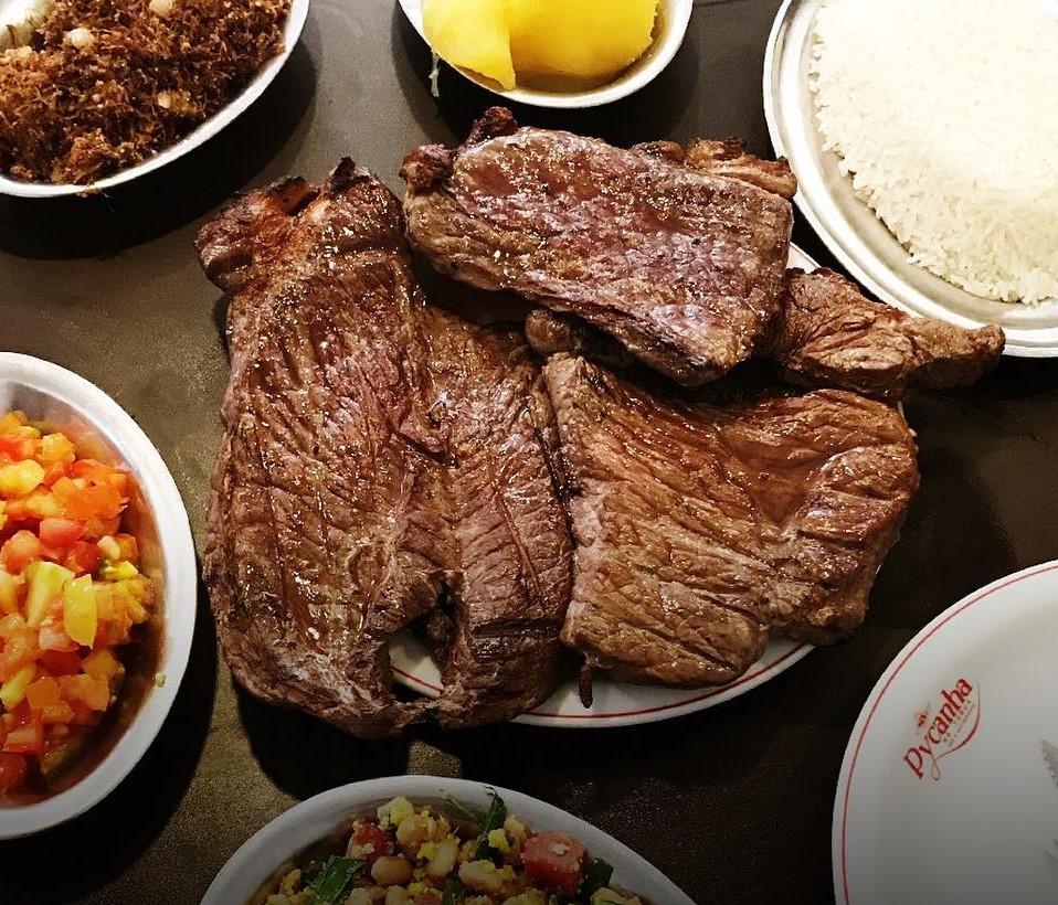 Carne assada no restaurante Pycanha na Tábua em Goiânia | Foto: Divulgação