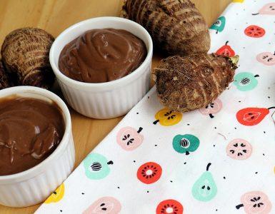 chocolate quente com inhame