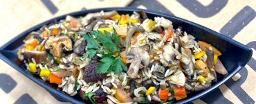 jambalaya com cogumelos